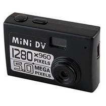 Mini Filmadora Detetive Hd Camera Dv Espiã 5.0 Mp Microfone
