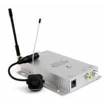 Mini Micro Câmera Wireless Pinhole Color Sem Fio Com Recepto
