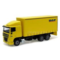 Caminhão Bau Daf 95xf Joal 1:50 Amarelo 357m