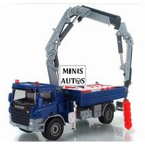 Miniatura Caminhão Munck Azul Kaidiwei Escala 1:55