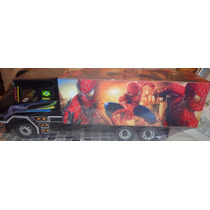 Caminhão De Brinquedo De Madeira Homem Aranha