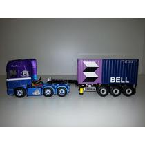 Wsi - Caminhao Scania + Carreta + Container 1:50