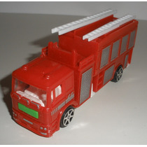 Caminhão Bombeiro Miniatura Plástico Brinquedo