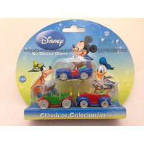 Miniaturas Colecionáveis Carrinhos Mickey Pato Clássicos