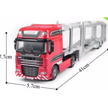 Caminhão Cegonha 1/50 Kdw Kaidiwei Metal Scania Volvo Truck