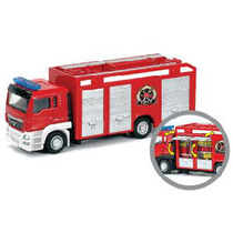 California Toys 1:64 Man Fire Engine Bombeiro