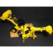 Super Trator Retroescavadeira Carregadeira Brinquedo