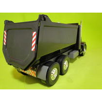 Caminhão Caçamba Preto Comp=40cm Larg=11cm Alt=16cm