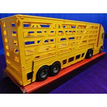 Caminhão Carreta Bau 02 Eixos Amarelo Comp 60cm