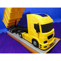 Caminhão Caçamba Carreta Tombeira Amarela Com50cm Volkswagem