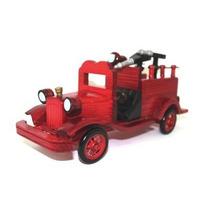 Caminhão De Bombeiros A B Vintage – Réplica Em Madeira -1639