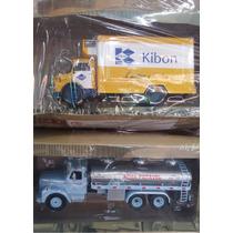 Coleção Miniatura Caminhões Brasileiros Mb1113 + Scania L85
