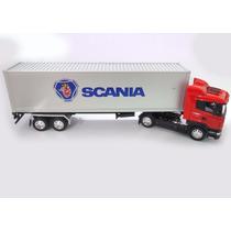 Scania R470 Baú 1/32 Welly Caminhão Carreta Volvo Vermelho