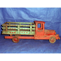 Caminhão Miniatura Madeira Usado Rodas De Lata Para Restauro
