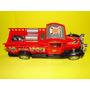 Escala 1:24 Antigo Caminhão Bombeiro Vermelho Larg 9,5cm