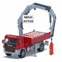 Miniatura Caminhão Munck Vermelho Kaidiwei Escala 1:55