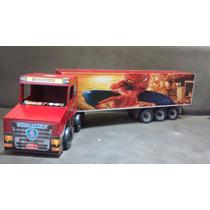 Caminhão De Brinquedo De Madeira Carreta (90cm)