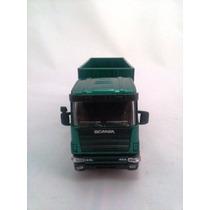 Miniatura Caminhão Scania 1/43 Caçamba Roll-on Roll-off