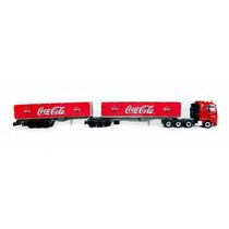 Reboques Bi-trem 6eixos Furgão Coca Cola Ho 1/87 Hbm 010