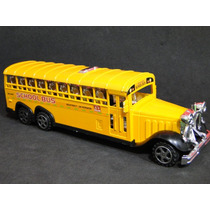 3° Eixo Onibus Trucado Escolar Amarelo School Bus Retro