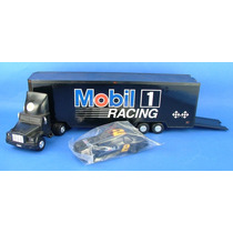 Caminhão Da Mobil - Toy Race Car Carrier - Eletronico - 1994