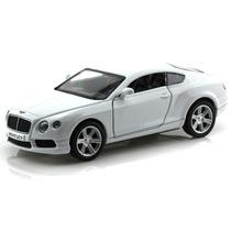 Carrinho Bentley Continental Gt V8 Branco - Ferro E Fricção