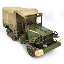 Miniatura Caminhão Guerra Decorativo Clássico Frete Grátis