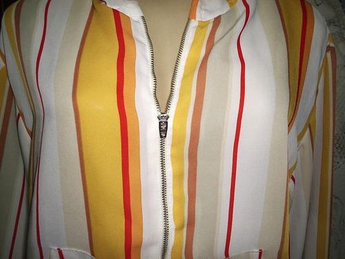 Camisa-Vestido Vintage Reciclado 90s Seda Tribal Talla