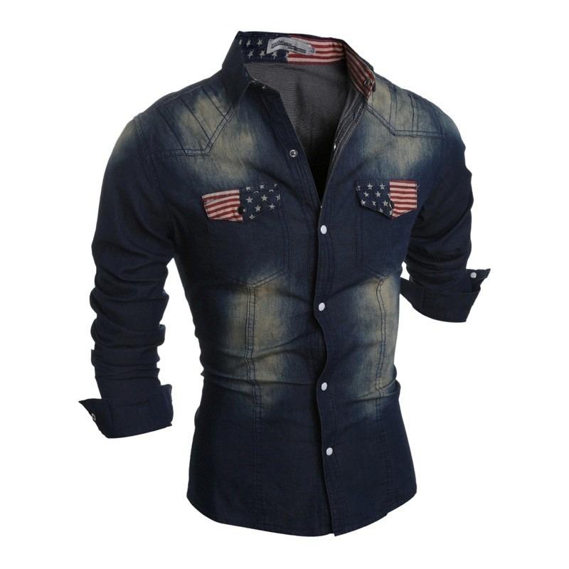 Camisa Jeans Pedraria Com Strass - R$ 269,90 em Mercado Livre