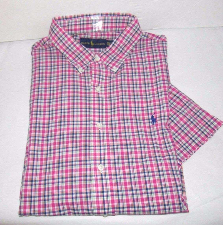 camisa social polo ralph lauren tamanho ggg xxl manga curta 6d8e49383d6