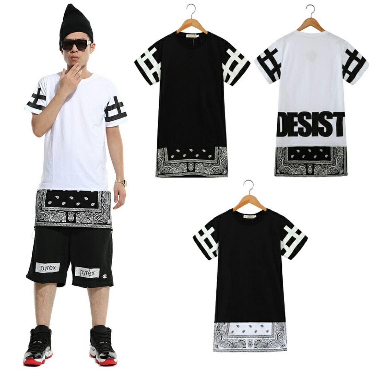 Camisa swag luxo top quality hip hop desist r 99 90 no mercadolivre Fashion homme style swag
