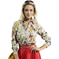 Camisa Estampada Floral Feminina Principessa Lorene