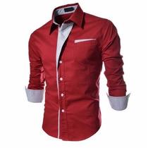 Camisa Social Slim Fit Importada Masculina Frete Grátis