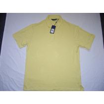 Camisa Polo Ralph Lauren Masculina Gg Xl Manga Curta Amarela