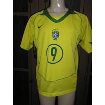 Camisa Da Seleção Brasileira Oficial Cbf Tamanho M Ronaldo