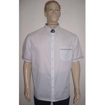 Camisa Social Maculina Manga Curta Em Tecido Unifil
