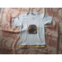 Camisa Infantil Do Bob Marley Reggae Com Detalhes