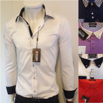 Camisa Social Zafferano Italiana Armani Ellus Calvin Klein