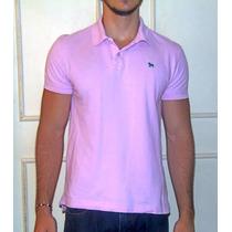 Camisa Polo Rosa Aeropostale Importada Usa Algodão M