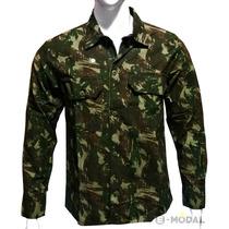 Camisa Camuflada Militar Masculina Airsoft Ou Casual