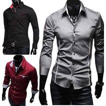 Camisa Social Slim Fit - Varios Modelos - Pronta Entrega!