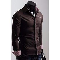 Camisa Slim Masculina Lançamento 2015