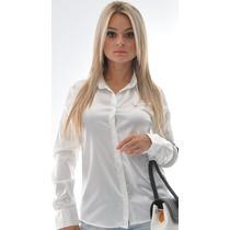 Camisa Feminina Isidore - Cetim C/ Elastano - Pimenta Rosada
