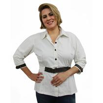 Camisa De Tricoline Plus Size (tamanho Grande)