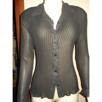 Camisa Transparente C/ Nervuras Tam M
