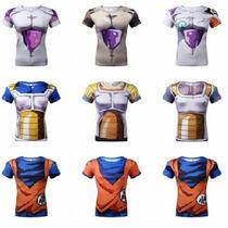 Camisa Hérois Dragon Ball Goku/ Vegeta/ Picollo/ Gohan/ Cell