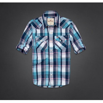 Camisas Sociais Xadrex Hollister Masculinas