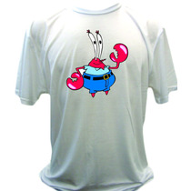Camiseta Bob Esponja, Patrick, Sr Seriqueijo, Gary
