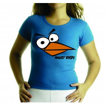 Camiseta Ou Baby Look Angry Birds Adulto E Infantil