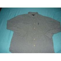 Camiseta M Longa Quadriculada Abercrombie E Fitch